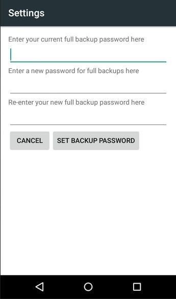 hidden android features - desktop backup password