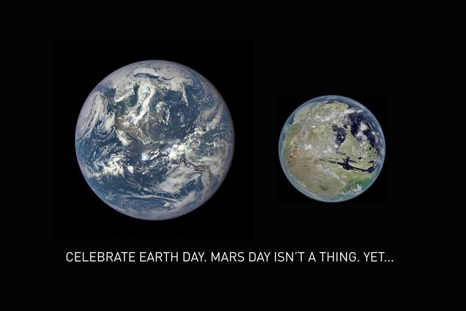 spacex ready to land on mars -earth day