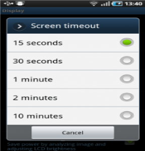 tips to save android battery - timeout