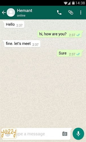 Fake WhatsApp chat Android