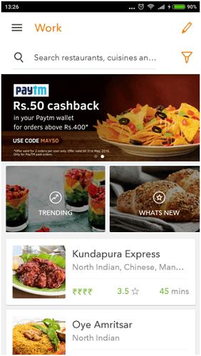 Swiggy vs Foodpanda app features