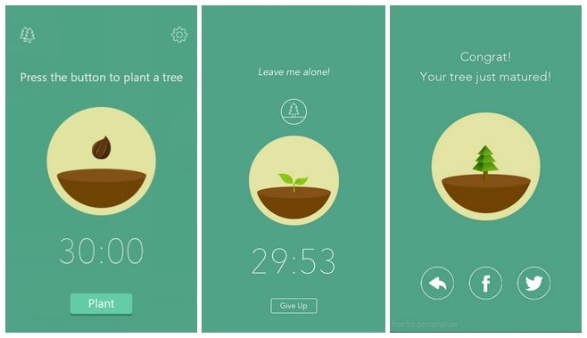 best productivity android apps - forest