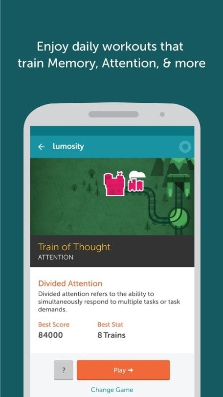 best productivity android apps - lumosity