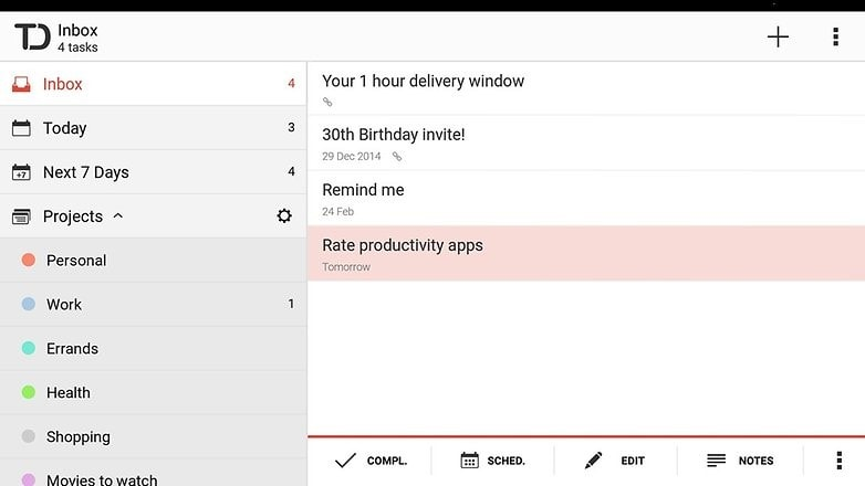 best productivity android apps - todoist