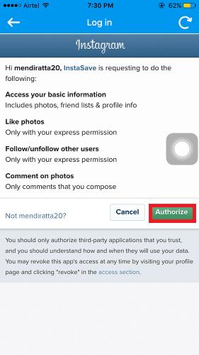 download instagram photos on iPhone
