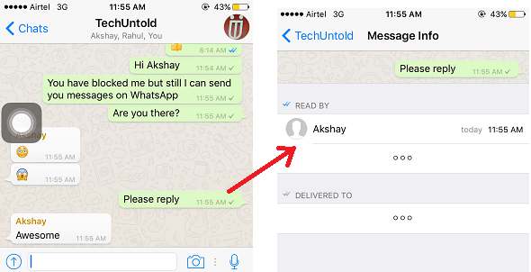 Unblock yourself on WhatsApp from Others