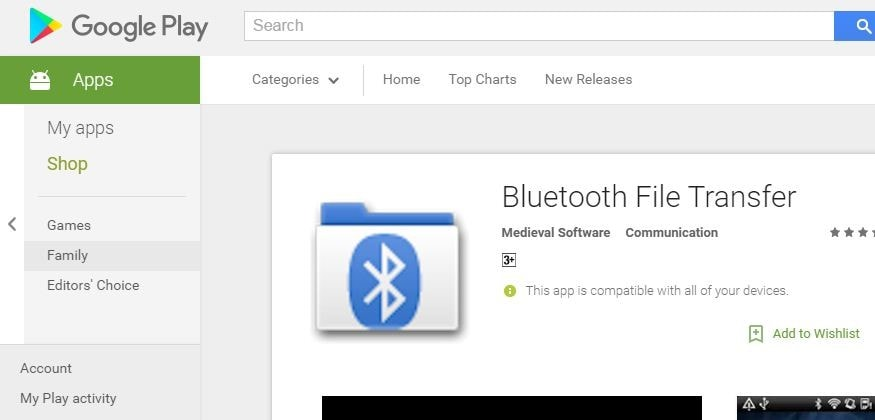transfer Apps from one Android device to another - bluetooth transfer install-min