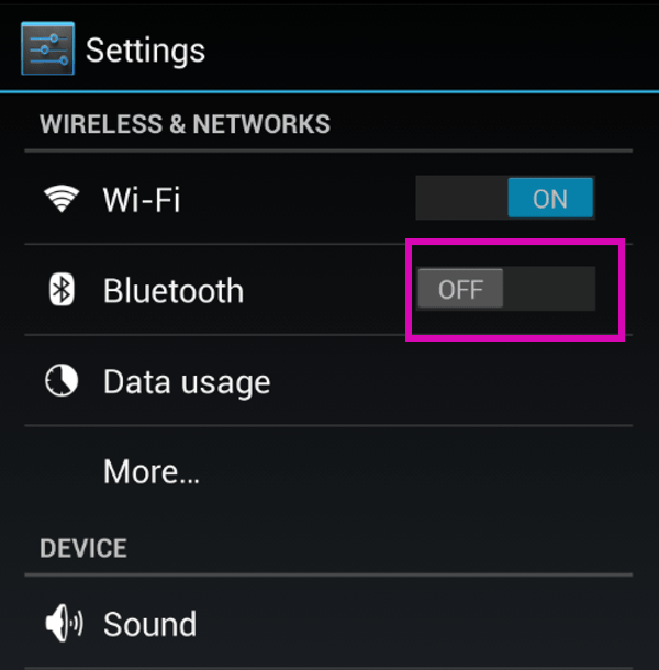 transfer Apps from one Android device to another - bluetooth transfer turn on-min