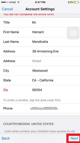 Create US App Store Account