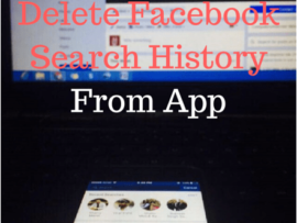 How to delete Facebook Search History on Android, iPhone App
