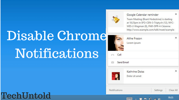 Turn Off Chrome Notifications