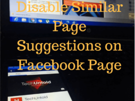 How to disable Similar page suggestions on Facebook page