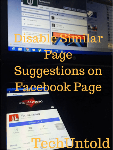 Disable Similar Page Suggestions on Facebook Page