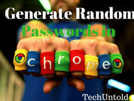 How to generate random password in Chrome, Secure and strong