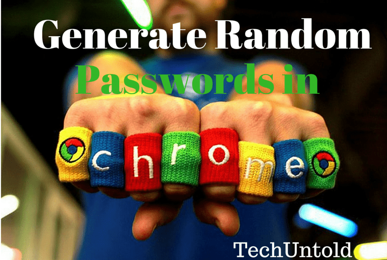 Generate Random Password in Chrome without extension