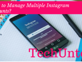 How to manage multiple Instagram accounts on same device