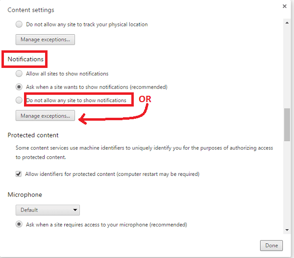Disable Facebook Chrome Notifications