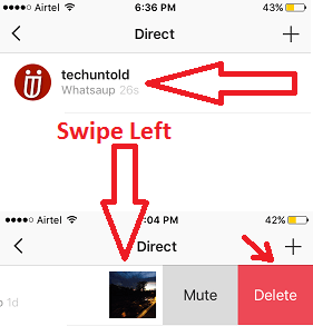 Delete Instagram Direct Messages