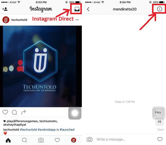 Mute Instagram Direct Notifications