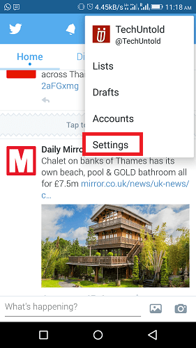 Manage multiple twitter accounts Android