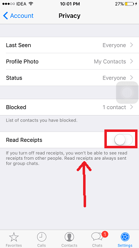 Get read receipts on WhatsApp even if turned off
