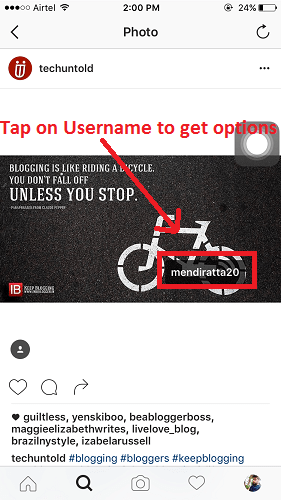 Approve tag Instagram