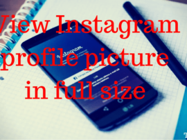 How to view Instagram profile picture in full size