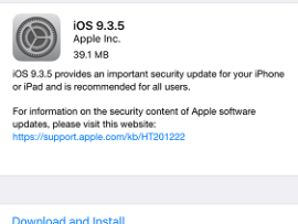 iOS 9.3.5 released by Apple to fight a dangerous Spyware