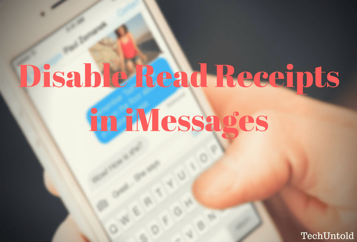 Turn off read receipts in iMessage for certain contacts