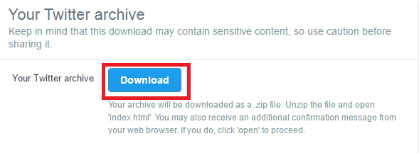 Search Twitter Archive