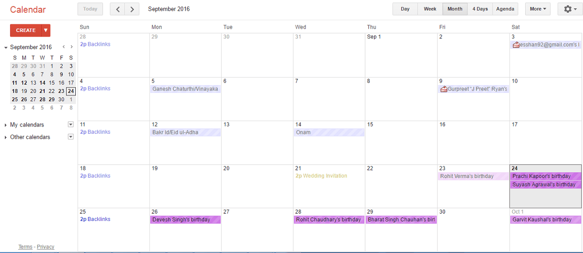 facebook friends birthdays added to google calendar