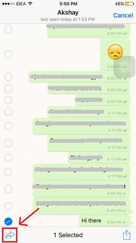 Forward WhatsApp messages