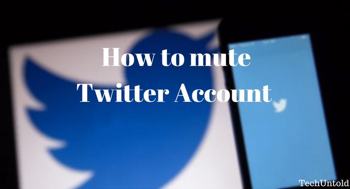 Mute Twitter Account