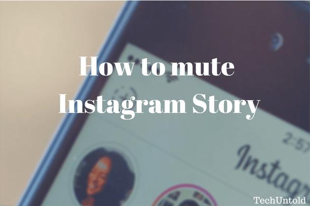 mute instagram story