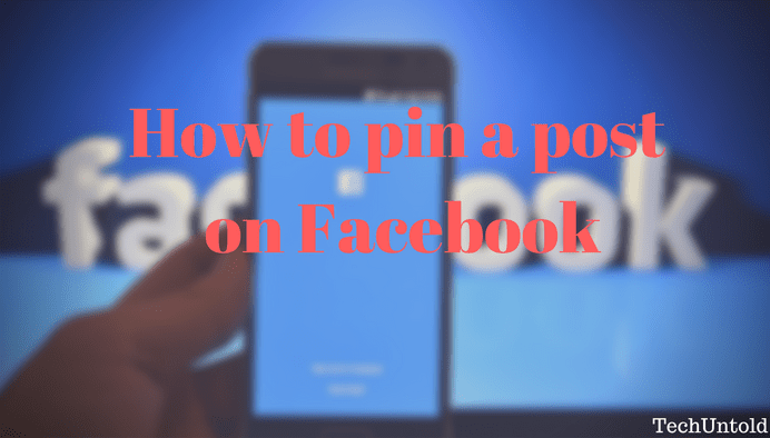 Pin a post on Facebook group and page timeline