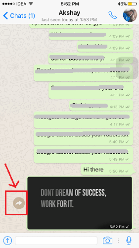 Quick Forward WhatsApp messages