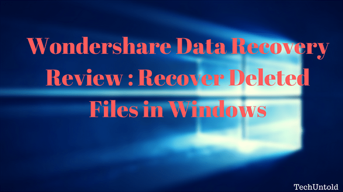 recover deleted files in windows