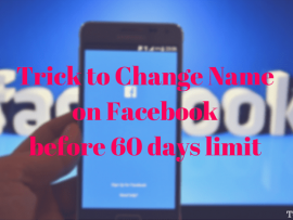 How to change Name on Facebook before 60 days limit with this trick
