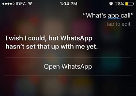 use siri to place whatsapp call