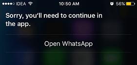 whatsapp siri issue resolved