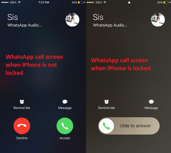 WhatsApp calls as standard phone calls