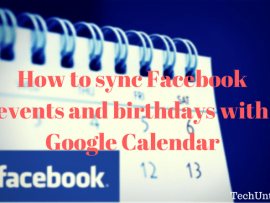 How to sync Facebook events and birthdays with Google Calendar