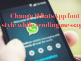 How to use different WhatsApp font style while sending messages