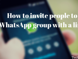 How to add/invite people to WhatsApp group by sharing a link