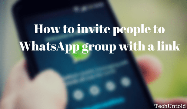 Add people to WhatsApp group with a link