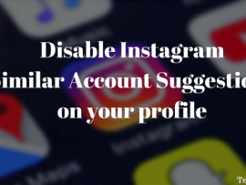 How to disable Instagram suggested users on your profile