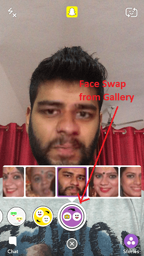 Face Swap on Snapchat from Gallery