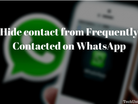 How to delete/hide contact from Frequently Contacted on WhatsApp