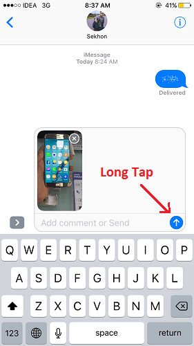invisible ink on ios 10