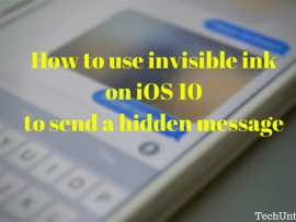 How to use invisible ink on iOS 10 to send a hidden message